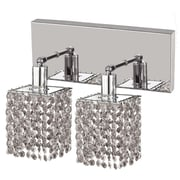 Elegant Lighting Mini 2 Light Oblong Canopy Square Wall Sconce; Crystal (Clear) / Spectra Swarovski