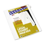 Kleer-Fax® 80000 Series Numerical Side Tab Legal Index Divider, 11 x 8 1/2, 10-Tab, 25/Pack (82252)