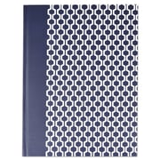 Universal® Casebound Hardcover Notebook, Dark Blue with Hexagon Pattern, 1-Subjects, 10 1/4 x 7 5/8, Each (66351)