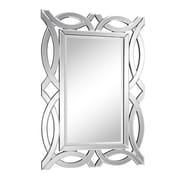 Elegant Lighting Modern Silver Rectangle Wood Wall Mirror