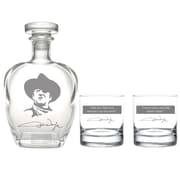 Rolf Glass John Wayne 3 Piece Beverage Server Decanter Set