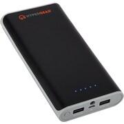 HyperGear® Portable Power Bank, 16000 mAh, Black/Orange, Dual USB (13640)