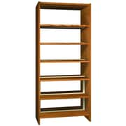 Ironwood Glacier Double Face 84'' Standard Bookcase; Amber Ash