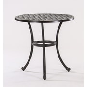 AIC Garden & Casual Basket Weave Round Cast Aluminum Bistro Table