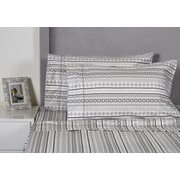 Melange Home Aztec 400 Thread Count Cotton Sheet Set; Queen