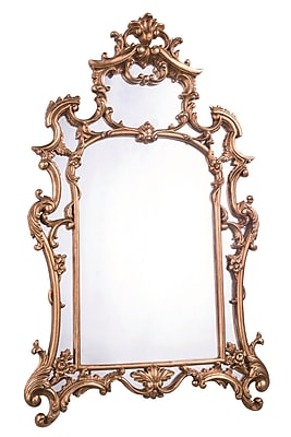 Elegant Lighting Antique Arch/Crowned top Wood Mirror;