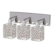 Elegant Lighting Mini 3 Light Oblong Canopy Square Wall Sconce; Crystal (Clear) / Strass Swarovski