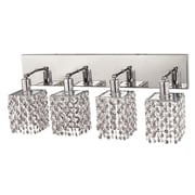 Elegant Lighting Mini 4 Light Oblong Canopy Square Wall Sconce; Crystal (Clear) / Royal Cut