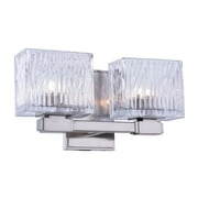 Elegant Lighting Torrent 2-Light Wall Sconce; Light Antique Brass