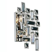 Elegant Lighting Picasso 2 Light Wall Sconce; Chrome/Clear