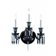 Elegant Lighting Majestic 3 Light Wall Sconce; Chrome
