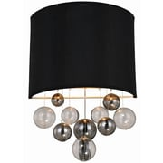 Elegant Lighting Milan 1 Light Wall Sconce; Vintage Nickel