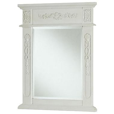 elegant lighting danville rectangle vanity mirror antique beige staples. Black Bedroom Furniture Sets. Home Design Ideas