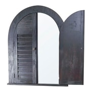 Laurel Foundry Modern Farmhouse Black Arch/Crowned top Mirror