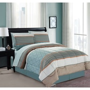 Manhattan Heights Mixit Border 8 Piece Bed in a Bag Set; King