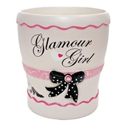 Homewear Linens Glamour Resin Trash Can