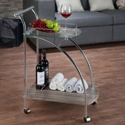 ACME Furniture Badin Clear Glass & Chrome Serving Cart