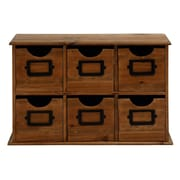 Cole & Grey 6 Drawer Wood Table File Accent Cabinet