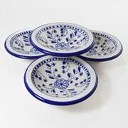 Le Souk Ceramique Azoura Round Stoneware Platter (Set of 4)