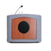 Accent Lecterns Dan James Original Accent Presenter Table Top Lectern; Gray Granite/Cherry