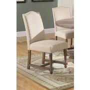 BestMasterFurniture Side Chair (Set of 2); Tan