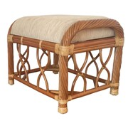 RattanWickerHomeFurniture Jenny Ottoman; Light Brown