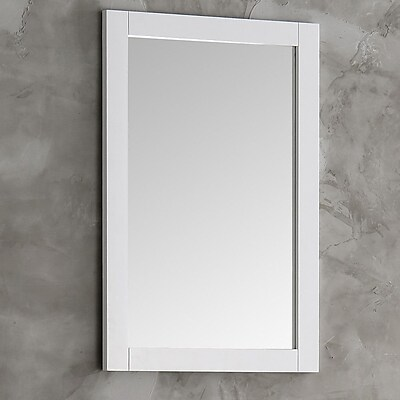 Fresca Cambria Wall Mirror; White
