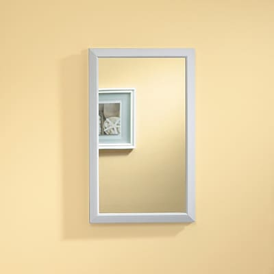 Jensen Hampton Wall Mirror; White