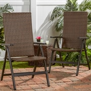Greendale Home Fashions Wicker Outdoor Reclining Single Chair (Set of 2)