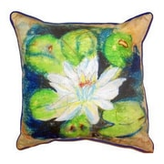Betsy Drake Interiors Water Lily Outdoor Throw Pillow; Large
