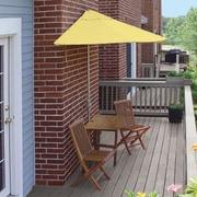 Blue Star Group Terrace Mates Villa Economy 5 Piece Dining Set; Yellow Olefin