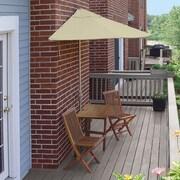 Blue Star Group Terrace Mates Villa Economy 5 Piece Dining Set; Antique Beige Olefin