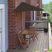 Blue Star Group Terrace Mates Villa Standard 5 Piece Dining Set; Chocolate Olefin