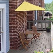 Blue Star Group Terrace Mates Bistro Economy 5 Piece Dining Set; Yellow Olefin