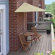 Blue Star Group Terrace Mates Bistro Economy 5 Piece Dining Set; Antique Beige Sunbrella