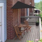 Blue Star Group Terrace Mates Bistro Economy 5 Piece Dining Set; Black Sunbrella