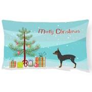 Caroline's Treasures Toy Fox Terrier Tree Indoor/Outdoor Lumbar Pillow
