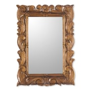 Novica Artisan Crafted Carved Wood Wall Mirror