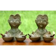 Novica 2 Piece Ceramic Condiment Bowl Set