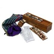 Novica Saints and Masks Wood Memory Game