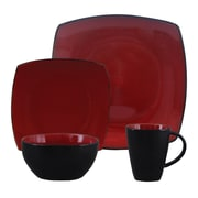Mint Pantry Vetiver Lounge 16 Piece Dinnerware Set; Red