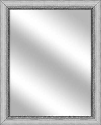 PTM Images Vanity Wall Mirror; Stainless Silver