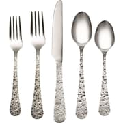Mint Pantry Wisteria 20 Piece Flatware Set; Antiqued Pewter
