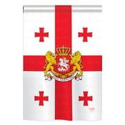 TwoGroupFlagCo Georgia Republic 2-Sided Vertical Flag; 18.5'' H x 13'' W