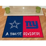 FANMATS NFL House Divided - Cowboys / Giants House Divided Mat