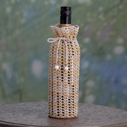 Novica Crocheted 1 Bottle Tabletop Wine Bottle Rack
