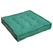 Blazing Needles Microsuede Floor Pillow; Emerald