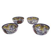 Novica Hand-Crafted Talavera Ceramic Serving Bowl (Set of 4)