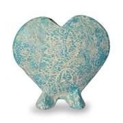 Novica Unique Heart Shaped Ceramic Table Vase