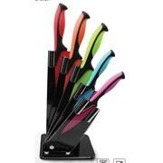 Volar Ideas 6 Piece Knife Kitchen Block Set w/ Acrylic Holder